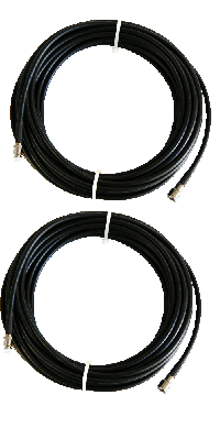 2 X 10 Mtr Low Loss LMR 200 Extension Cable (5mm)