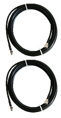 2 X 5 Mtr Low Loss LMR 200 Extension Cable (5mm)